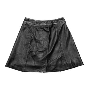 All saints 100% leather skirt